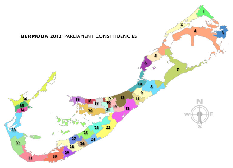 2012 Bermuda Parliament Constituencies