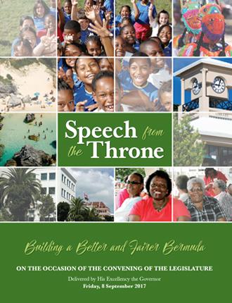 Throne Speech 2017 cover