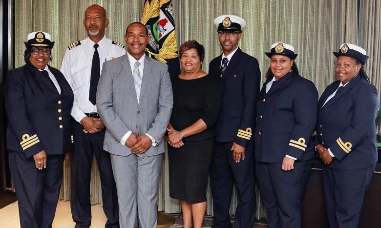 Recently promoted Customs Officer