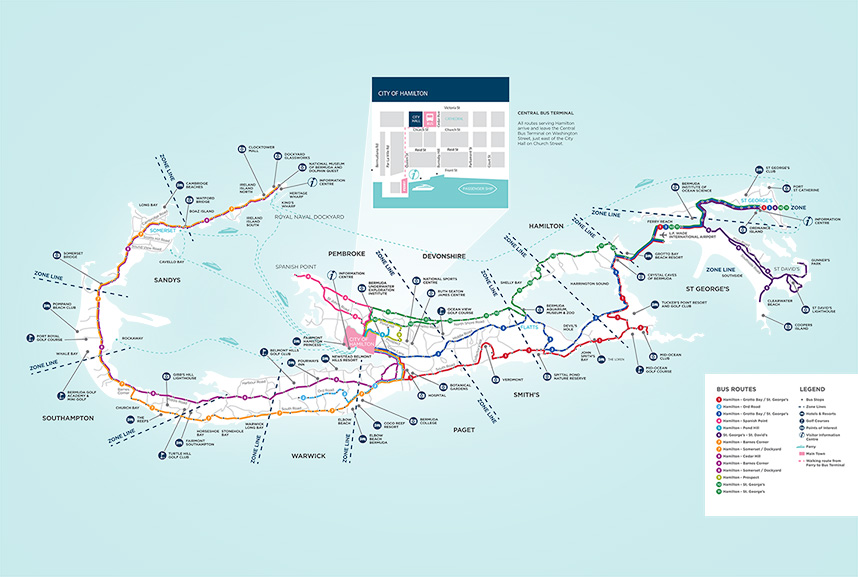 Route 1 schedule Hamilton St Georges Government of Bermuda