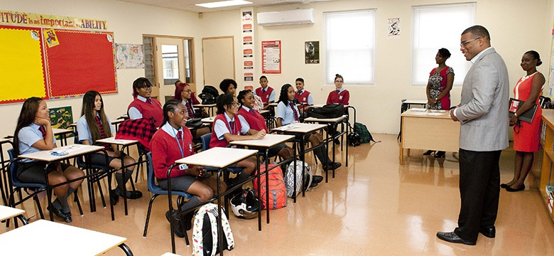 Bermuda Premier and Minister of Education school visits - Sept 11