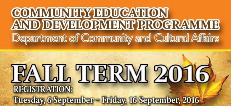 Community Education Development Programme