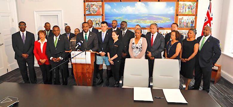 Premier David Burt Announces an MOU with Binance