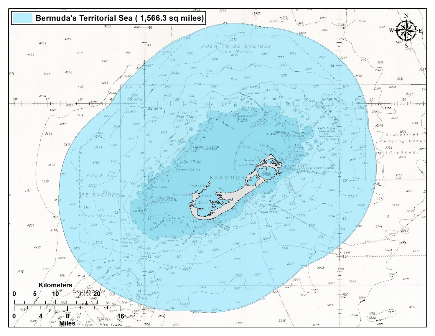 bermuda territorial waters